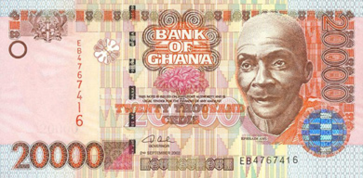 ghana currency the paper currency of ghana shown currency exchange